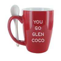 You Go Glen Coco Red Spoon Mug