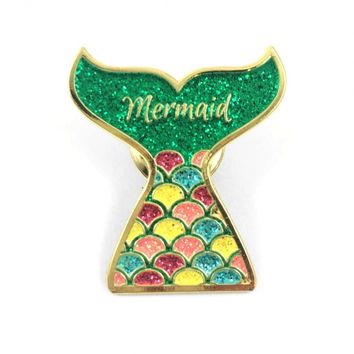 Lapel Pins - Siren's Tale Mermaid Tail Lapel Pin