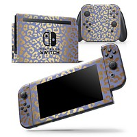 Gold Flaked Animal Blue - Skin Wrap Decal for Nintendo Switch Lite Console & Dock - 3DS XL - 2DS - Pro - DSi - Wii - Joy-Con Gaming Controller