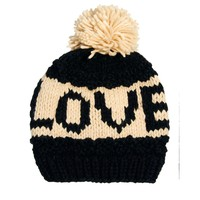 New Look Love Bobble Beanie