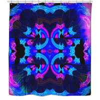 """Blacklight Special"" Psychedelic Shower Curtain"