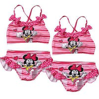 Baby Girls 2pcs Tankini Bikini Set Swimwear Swimsuit Bathing Suit Beachwear HOT Cartoon Two-piece Swimsuits Clothing Sets