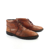Boots Ankle Vintage 1980s  Short Brown Leather Generra Collection Men's size 12