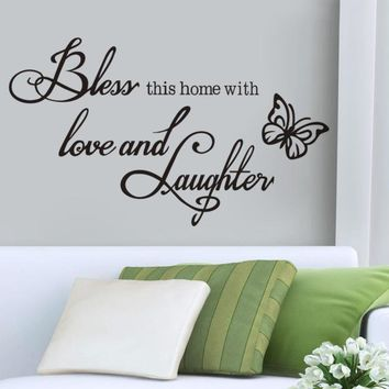 Wall Stickers Nordic Style Font Easily Removable Wall Decor Home Decoration Accessories