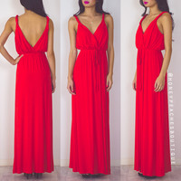 Love Never Ends Maxi Dress - Red