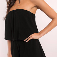 Georgie Strapless Tier Romper