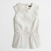 J Crew collared peplum top