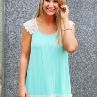 Minty Lace Tunic