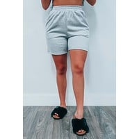 Reach For It Jogger Shorts: Gray