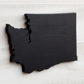 Washington or any US state shape sign wood cutout chalkboard. 34 other non-chalkboard colors. Wedding College Dorm Sports Fan Decor