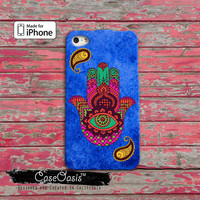 Hamsa Eastern India Indian Art Hamsah Tumblr Inspired iPhone 4 Case and iPhone 5/5s/5c Case and iPhone 6, 6 Plus, 6s, 6s Plus + Wallet Case