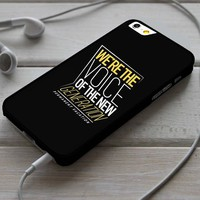 We're the Voice of The New Generation Permanent Vacation 5SOS Ly iPhone 4/4s 5 5s 5c 6 6plus 7 Case