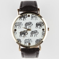 Elephant Face Watch Black One Size For Women 26068310001