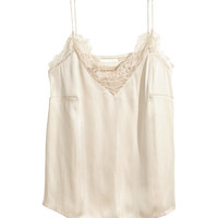 Satin Camisole Top - from H&M