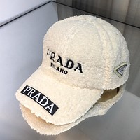 Prada Embroidered Letters Men's and Women's Baseball Cap