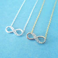 Valentine Gift, Infinity Forever, Gold or Silver, Necklace