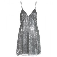 SEQUIN AND BEAD EMBELLISHED DRESS