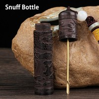 EDC Snuff Bottle Bullet Portable with Metal Spoon Funnel Snorting Snorter Bullet Fragrance Container