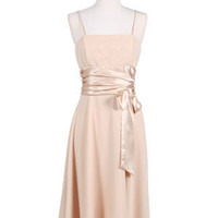 Gold Tea Length Dress from Sung Boutique Los Angeles, Category Tea Length Dresses