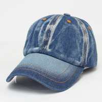Newly Design Men Women Color Fading Style Demin Jeans Baseball Caps Unisex Outdoor Sports Hat 160614 Drop Shipping