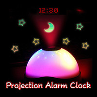 Selling Starry Digital Magic LED Projection Alarm Clock Night Light Color Changing Horloge