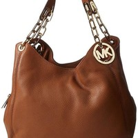 Michael Kors Fulton Large Leather Shoulder MK Bag