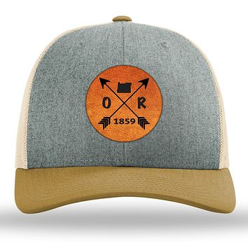 Oregon State Arrows - Leather Patch Trucker Hat