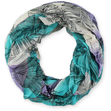 D&Y Tie Dye Feather Print Infinity Scarf at Zumiez : PDP