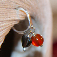 Belly Button Ring, Carnelian Belly Button Ring, Belly Button Jewelry, 16 gauge or 14 gauge Belly Button Ring, Body Jewelry, Stone Ring