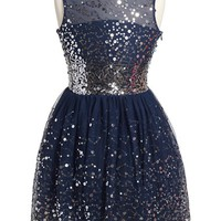 Girl's Fiveloaves Twofish 'New Years Eve' Sequin Party Dress,