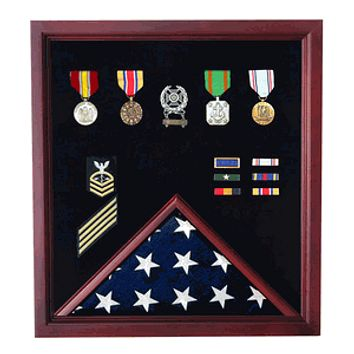 Extra Large Flag and Medal Display Case