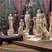 Design Toscano Gods of Greek Mythology Chess Pieces