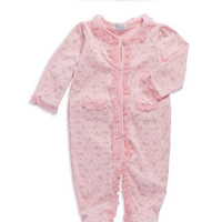 Quiltex Bow Patterned Footed Pajamas With Hat