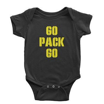 Go Pack Go Green Bay Infant One-Piece Romper Bodysuit