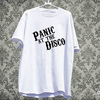 Panic at the disco white T-shirt unisex adult
