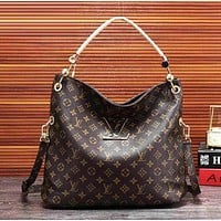 Inseva Louis Vuitton Fashion Women Shopping Leather Satchel Shoulder Bag Handbag Crossbody
