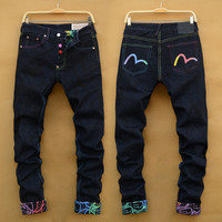 Summer Men's Fashion Men Slim Pants Jeans [6528624515]