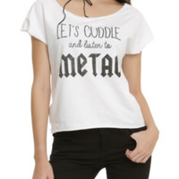 Cuddle With Metal Girls Top