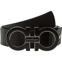 Salvatore Ferragamo Adjustable Belt - 9219 Black Men's Belts
