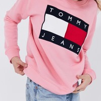 Tommy Jeans Fashion Long Sleeve Pullover Sweatshirt Top Sweater-5