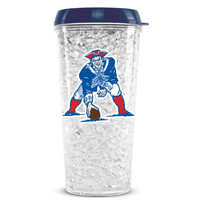 Duckhouse Crystal Tumbler With Straw - Throwback New England Patriots