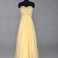 Custom Beach Sweetheart Floor-length Chiffon Sequins Long Prom/Evening/Party/Homecoming/Bridesmaid/Cocktail/Formal Dress 2013 New Arrival