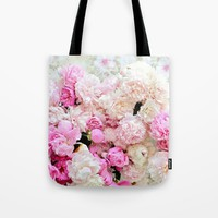 summer peonies Tote Bag by sylviacookphotography