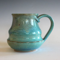 Pottery Mug, 13 oz, unique coffee mug, handmade cup, handthrown mug, stoneware mug, wheel thrown pottery mug, ceramics and pottery