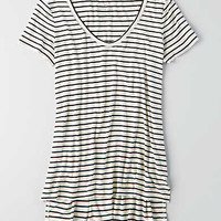 AEO Soft & Sexy Hi-Lo Jegging T-Shirt , Chalk