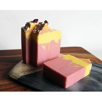 Pink Grapefruit Shea Butter Soap Bar