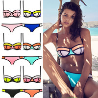 Sexy Triangle With Rims Polyester Swimsuit BIKINI T15010601