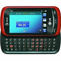 LG Xpression C395 - Red Slider AT&T CRICKET H20 GSM 3G Qwerty Touch Cell Phone