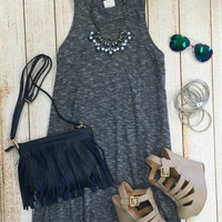 Down the Road Dress: Navy