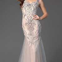 Sleeveless Floor Length Prom Dress